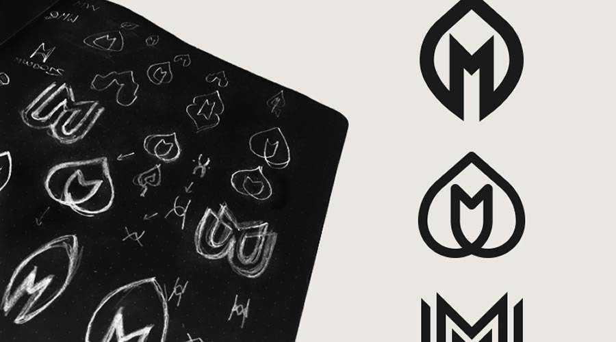 MWood logo design sketch paper pencil pen inspiration