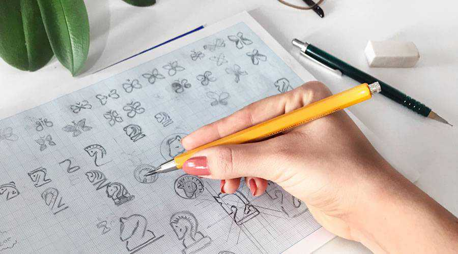 logo design sketch paper pencil pen inspiration