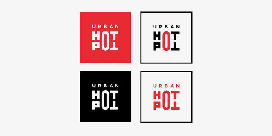 Urban Hot Pot logo design restuarant food bar inspiration