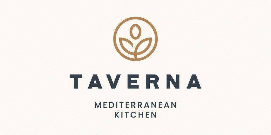 Taverna logo design restuarant food bar inspiration