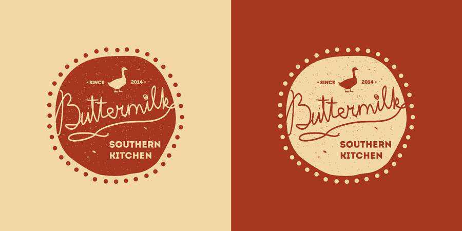 Buttermilk logo design restuarant food bar inspiration