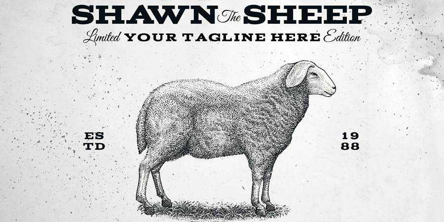 Vintage Sheep logo design restuarant food bar inspiration