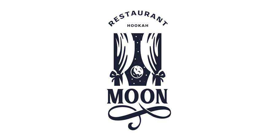 moon logo design restuarant food bar inspiration