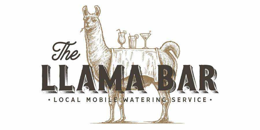 The Llama Bar logo design restuarant food bar inspiration