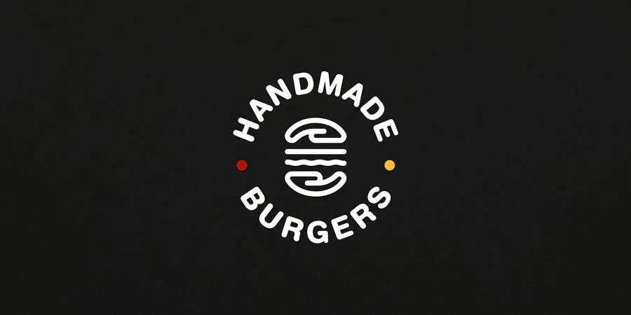 Handmade Burgers logo design restuarant food bar inspiration
