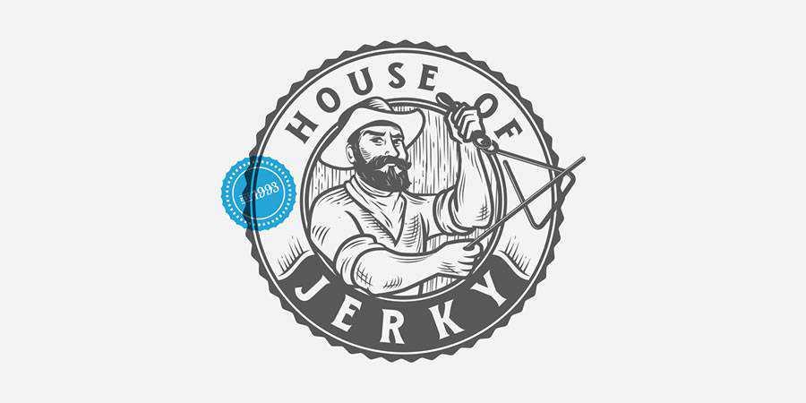 House of Jerky logo design restuarant food bar inspiration