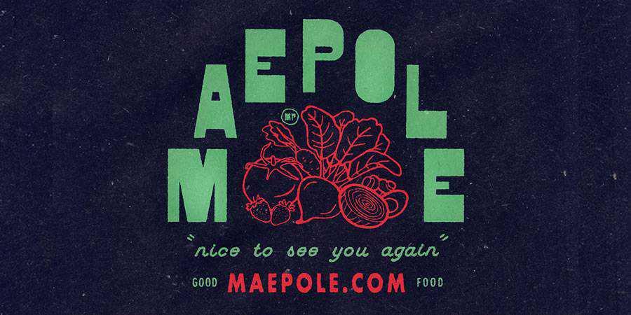 Maepole logo design restuarant food bar inspiration