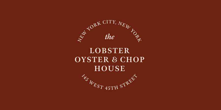 Lobster Oyster & Chop House logo design restuarant food bar inspiration