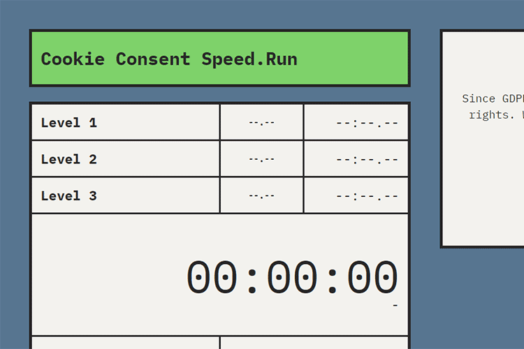 Example from Cookie Consent Speed.Run