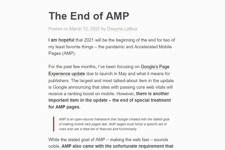 Example from The End of AMP