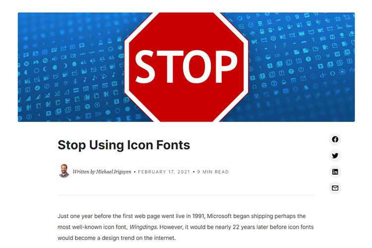 Example from Stop Using Icon Fonts