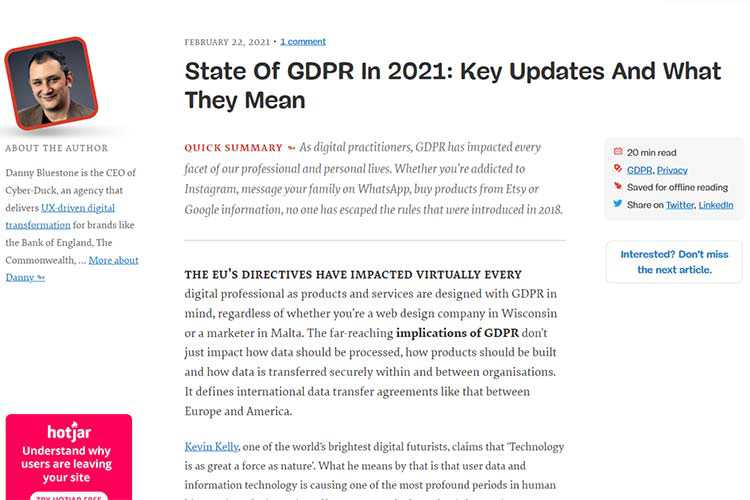 Example from State Of GDPR In 2021: Key Updates And What They Mean