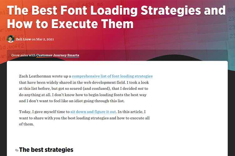 Example from The Best Font Loading Strategies and How to Execute Them