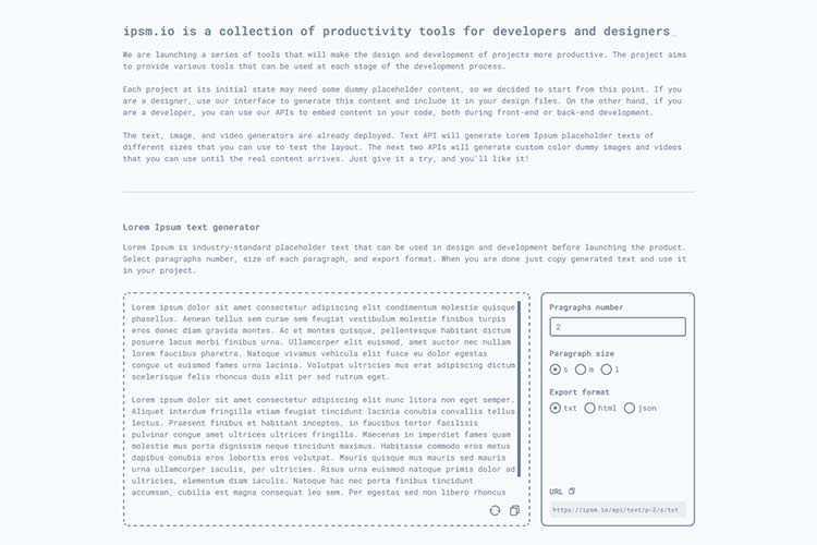 Example from ipsm.io