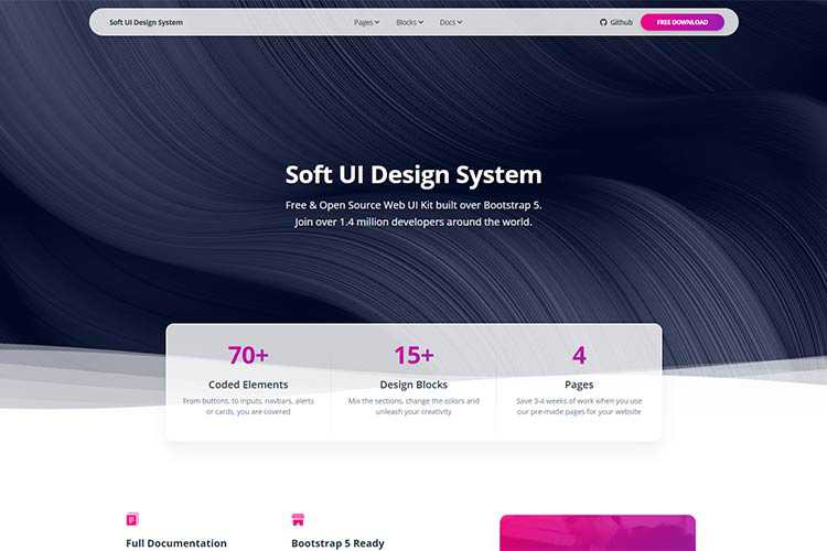 Example from Soft UI Design System