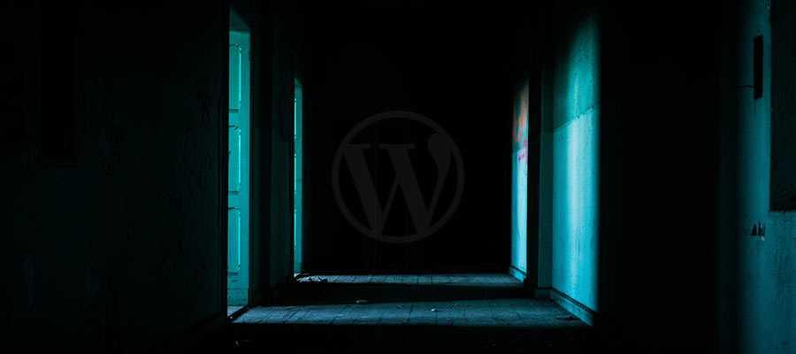 A dark hallway.