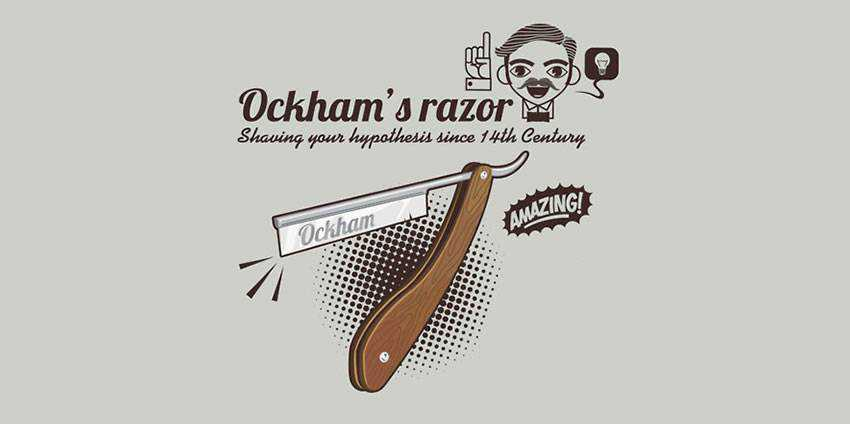 occam razor illustration idea