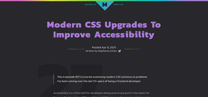 Modern CSS Upgrades To Improve Accessibility
