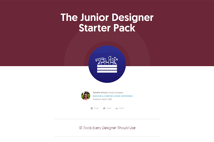Example from The Junior Designer Starter Pack