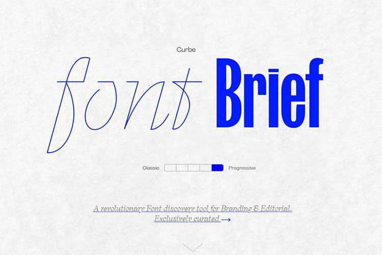 Example from Font Brief