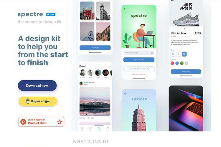 Example from Spectre UI Design Kit