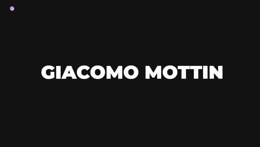 splash screen web design trend Giacomo Mottin