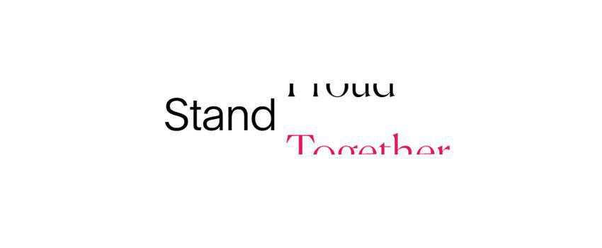 splash screen web design trend Stand Proud