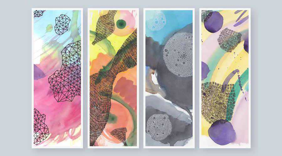 Watercolor Textures color abstract desktop wallpaper hd 4k high-resolution