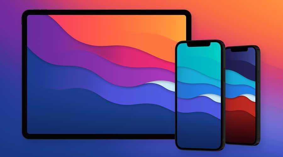 Waves color abstract desktop wallpaper hd 4k high-resolution