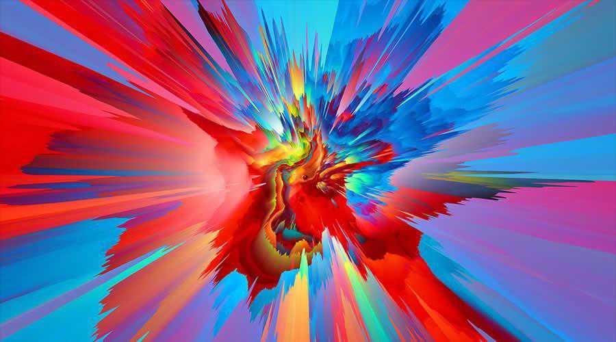 Dimensional Warp color abstract desktop wallpaper hd 4k high-resolution