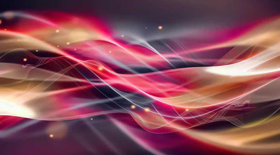 Glowing Wavy Lines color abstract desktop wallpaper hd 4k high-resolution