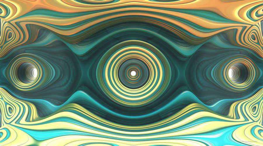 Gold Aqua Colored Rings color abstract desktop wallpaper hd 4k high-resolution
