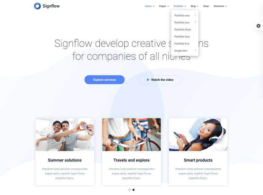 Signflow Tech And Startup Theme