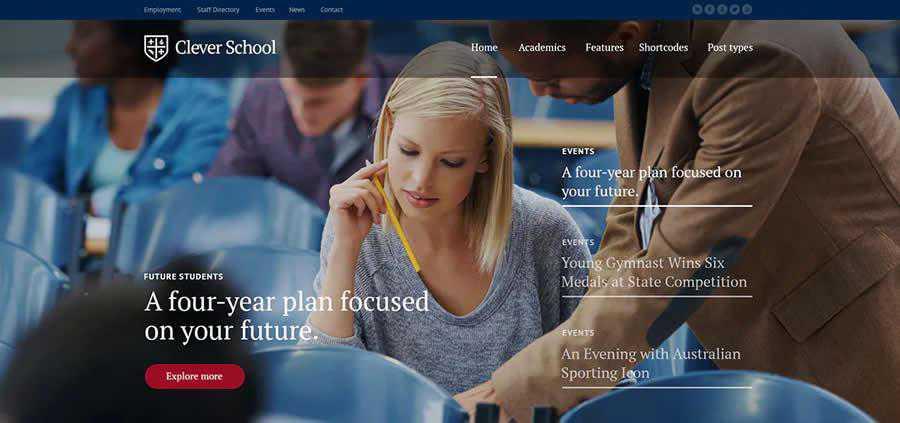 Schule Education WordPress Theme University College Web Design