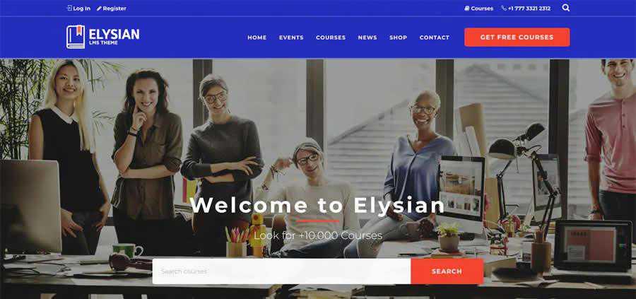 Elysian WordPress Theme University College Web Design