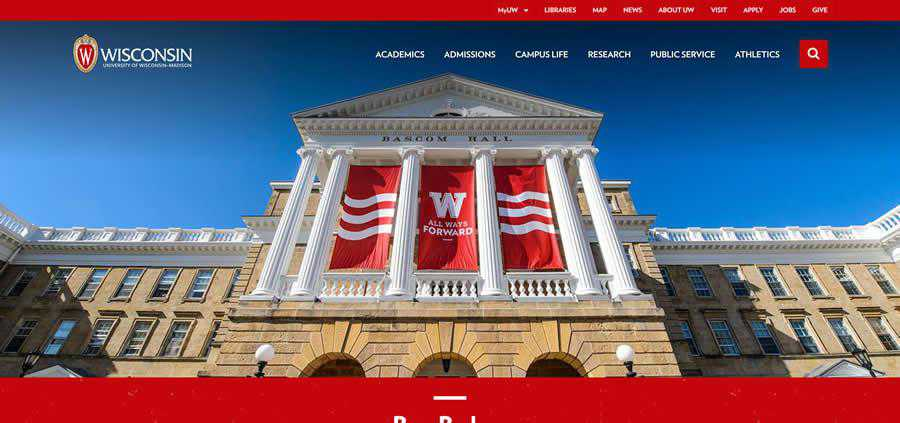 Wisconsin-Madison University College Web Design Inspiration Clean