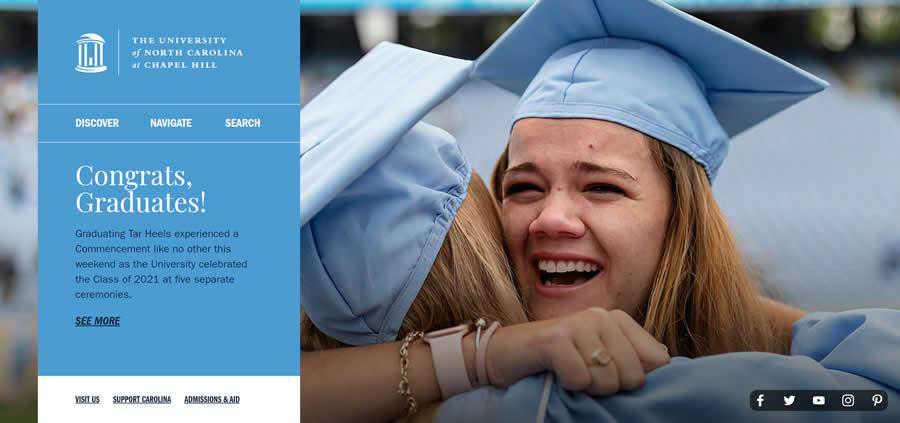 Chapel Hill University College Web Design Inspiration Clean