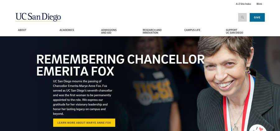 San Diego University College Web Design Inspiration Clean