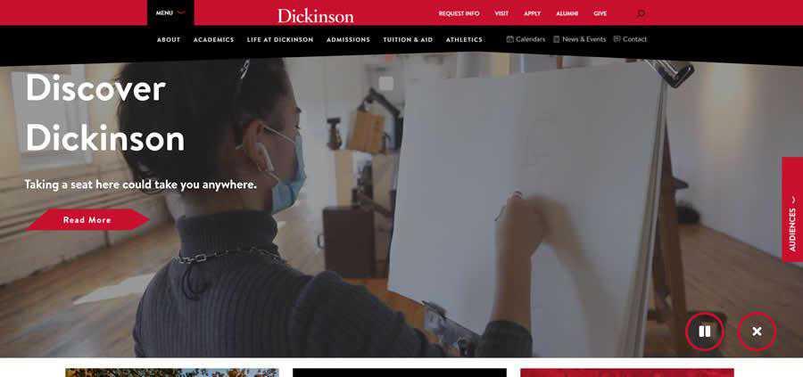 Dickinson University College Web Design Inspiration Clean