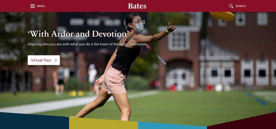 Bates University College Web Design Inspiration Clean