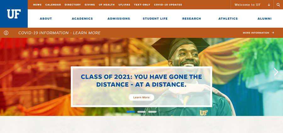 Florida University College Web Design Inspiration Clean