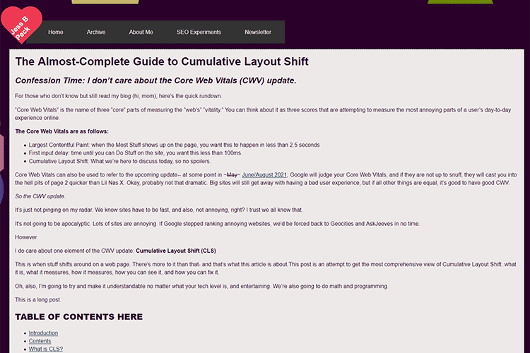 Example from The Almost-Complete Guide to Cumulative Layout Shift