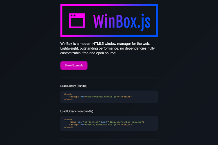 Example from WinBox.js