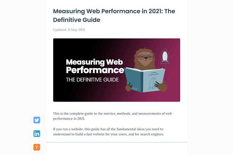 Example from Measuring Web Performance in 2021: The Definitive Guide