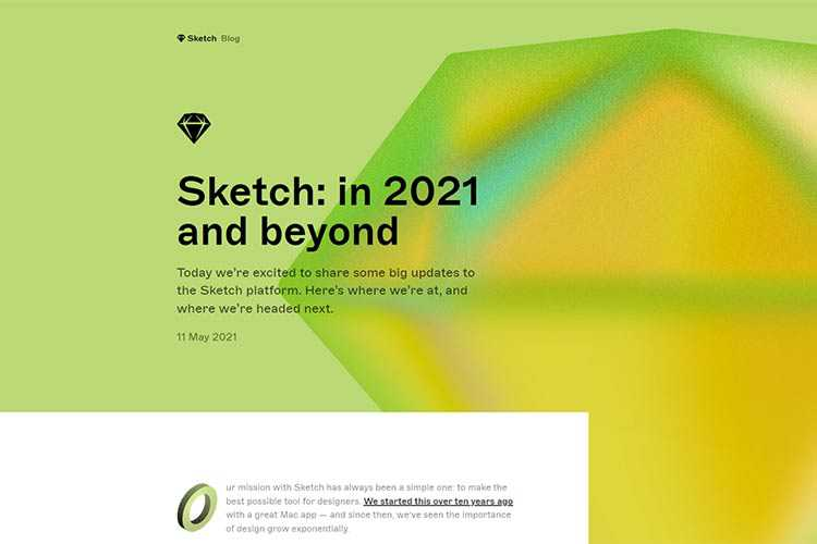 Example from Sketch: in 2021 and beyond