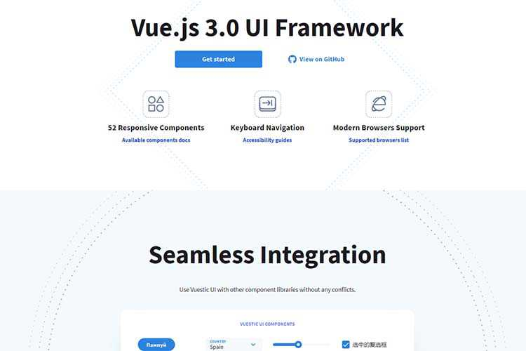 Example from Vuestic UI