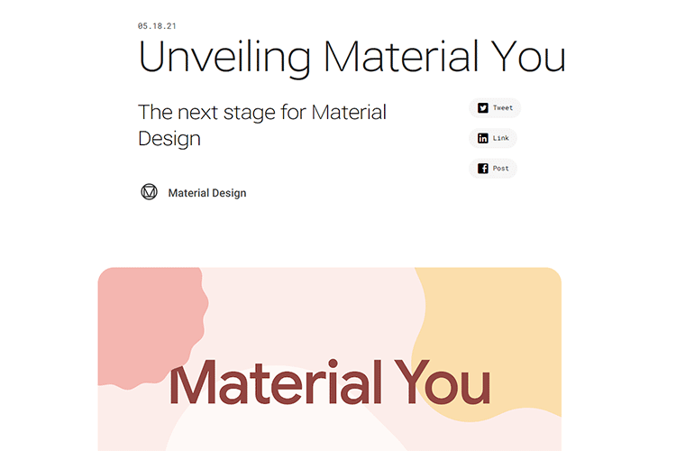 Example from Unveiling Material You