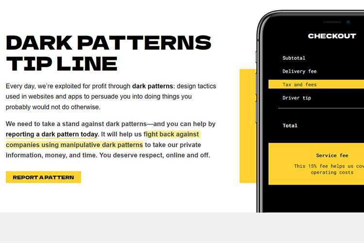 Example from Dark Patterns Tip Line