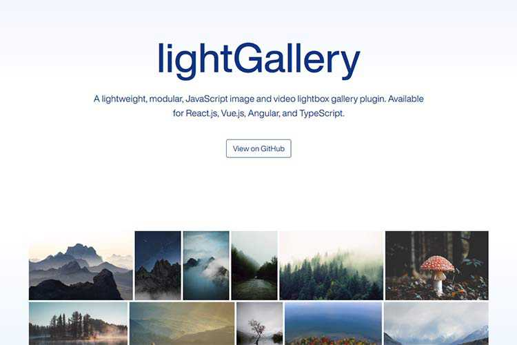Example from lightGallery