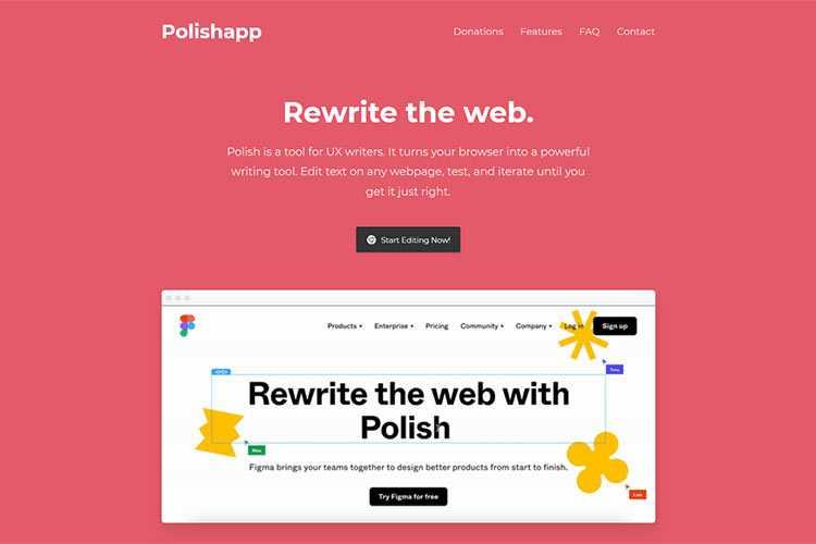 Example from Polishapp